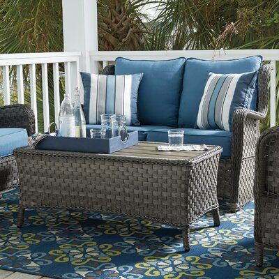 Pachna Loveseat Glider w Cocktail Table