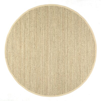 Mayfair Beige Area Rug Rug Size: Round 6