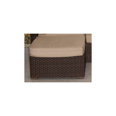 Aquia Creek Sectional Ottoman with Cushion Color: Sunbrella Antique Beige