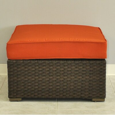 Aquia Creek Sectional Ottoman with Cushion Color: Orange