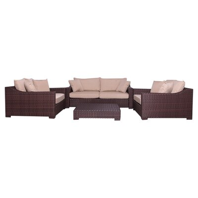 Aquia Creek 4 Piece Deep Seating Group with Cushions II
