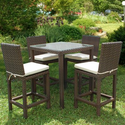 Aquia Creek 5 Piece Bar Set with Cushion