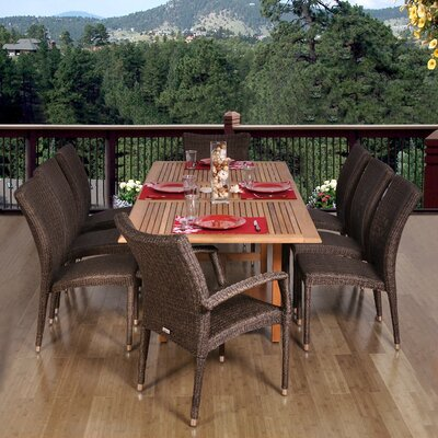 Aquia Creek 9 Piece Dining Set Chair Type: Six High Back & Two Armchairs