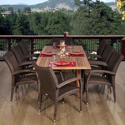 Aquia Creek 9 Piece Dining Set Chair Type: Eight Armchairs
