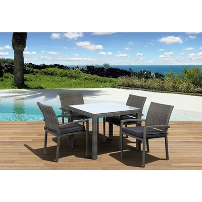 Aquia Creek 5 Piece Dining Set with Cushion