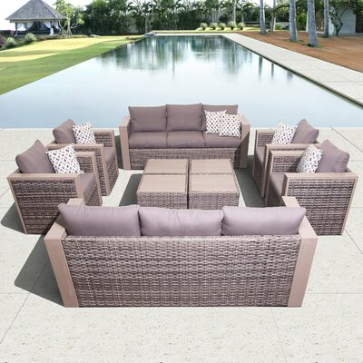 Aquia Creek 10 Piece Deep Seating Group with Cushions