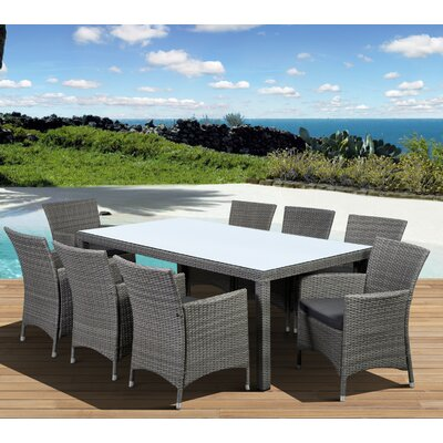 Aquia Creek 9 Piece Dining Set Color: Grey / Grey