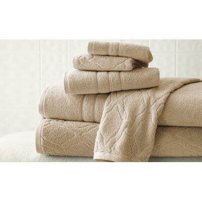 6 Piece Superior Combed Cotton Towel Set Color: Taupe