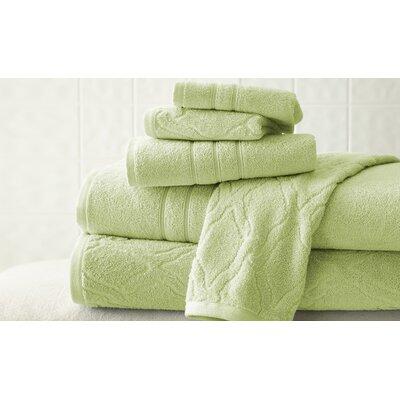 6 Piece Superior Combed Cotton Towel Set Color: Sage