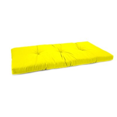 3 Sewn Outdoor Bench Cushion Fabric: Fresco Yellow