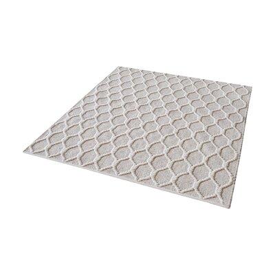 Maryam Hand-Loomed Fog/Cream Area Rug Rug Size: Square 14