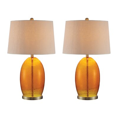 Pembrey 27 Table Lamp Set Finish: Orange