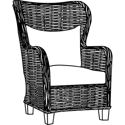 Reddick Solid Wood Armchair