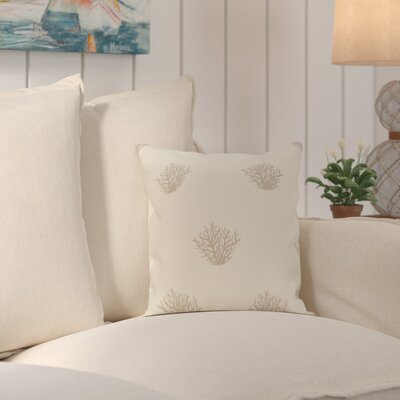 Rajashri Traditional Throw Pillow Size: 18 H x 18 W, Color: Oatmeal / Beige