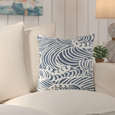Charter Oak Graphic Print Throw Pillow Size: 18 H x 18 W x 4 D, Color: BlueNeutral