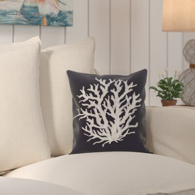 Fairhill Geometric Print Throw Pillow Size: 18 H x 18 W x 1 D, Color: Navy Blue