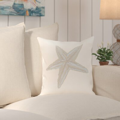 Sherborn Sea Star Coastal Print Outdoor Pillow Size: 18 H x 18 W x 1 D, Color: Taupe