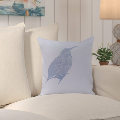 Falkirk Print Outdoor Throw Pillow Color: Cornflower, Size: 18 H x 18 W x 2 D