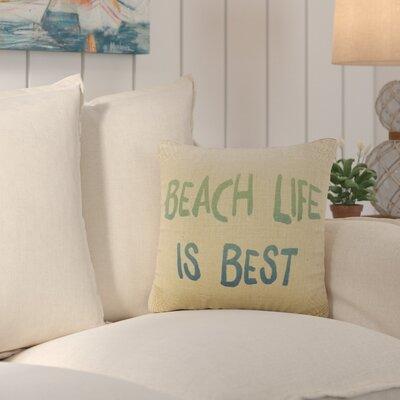 Dickenson Beach Life is Best Burlap Throw Pillow