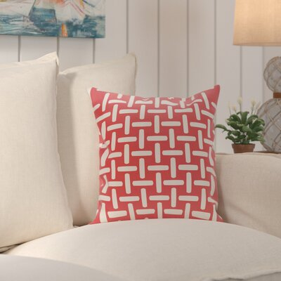 Thuong Geometric Decorative Outdoor Pillow Color: Coral, Size: 16 H x 16 W x 1 D
