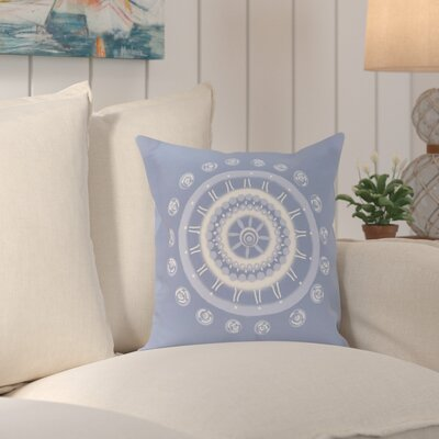 Rajashri Geometric Square Throw Pillow Size: 18 H x 18 W, Color: Light Blue