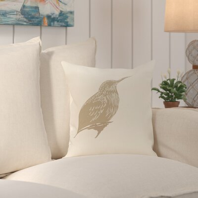 Falkirk Print Outdoor Throw Pillow Color: Flax, Size: 16 H x 16 W x 2 D