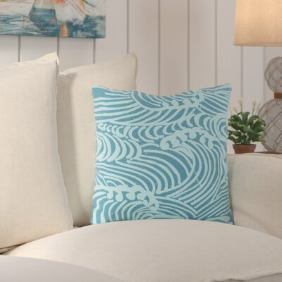 Charter Oak Graphic Print Throw Pillow Size: 18 H x 18 W x 4 D, Color: Blue