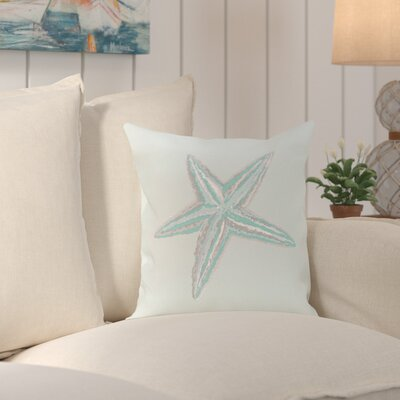 Dodi Sea Star Coastal Outdoor Throw Pillow Color: Aqua, Size: 20 H x 20 W x 1 D