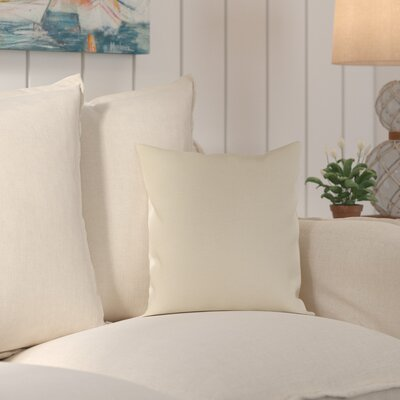 Wiscasset Indoor/Outdoor Throw Pillow Size: 16 H x 16 W x 4 D, Color: Beige