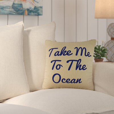 Brownsdale Ocean Wishes Burlap Throw Pillow Color: Navy