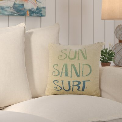 Fruitland Sun Sand Surf Burlap Throw Pillow