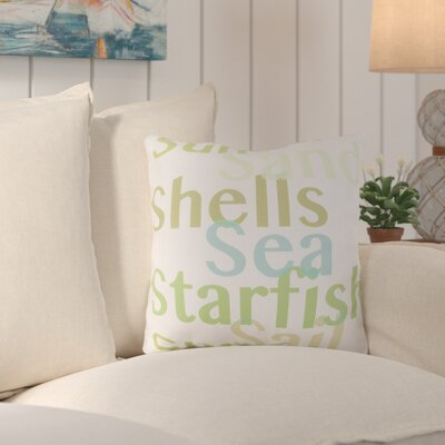 Chaucer Striking Sea ed Outdoor Throw Pillow Size: 20 H x 20 W x 4 D, Color: Lime/Sea Foam