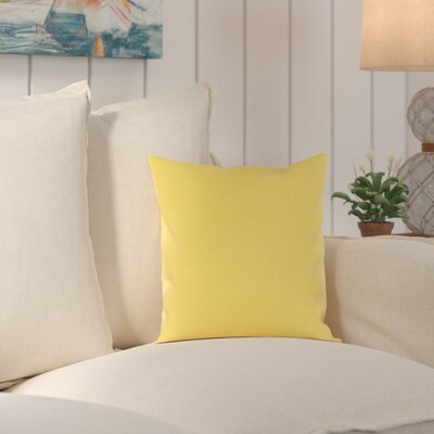 Murrayville Outdoor Throw Pillow Size: 20 H x 20 W x 0.25 D, Color: Sunflower