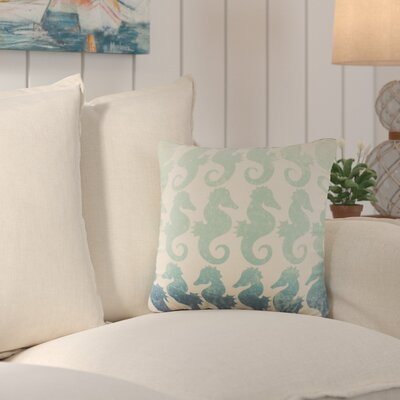 Heatherfield Cotton Throw Pillow Color: Blue Ombre