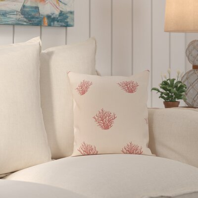 Rajashri Traditional Throw Pillow Size: 16 H x 16 W, Color: Taupe / Coral