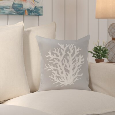 Fairhill Outdoor Throw Pillow Color: Classic Gray, Size: 16 H x 16 W x 1 D