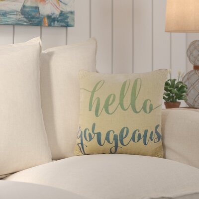 Fruitland Hello Gorgeous Burlap Throw Pillow