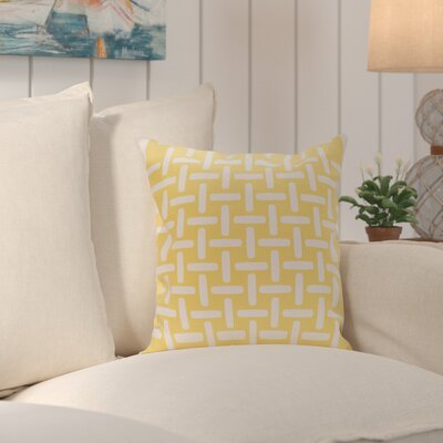 Thuong Geometric Decorative Outdoor Pillow Color: Lemon, Size: 18 H x 18 W x 1 D