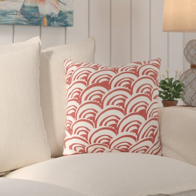 Southington Throw Pillow Color: RedNeutral, Size: 20 H x 20 W x 4 D