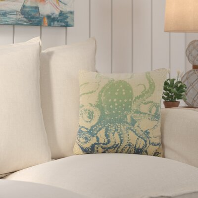 Fruitland Octopus Ombre Burlap Throw Pillow