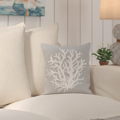 Fairhill Geometric Print Throw Pillow Size: 18 H x 18 W x 1 D, Color: Classic Gray