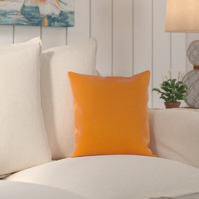 Wiscasset Indoor/Outdoor Throw Pillow Size: 20 H x 20 W x 0.25 D, Color: Burnt Orange
