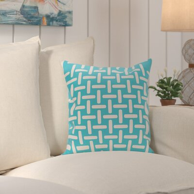 Thuong Geometric Decorative Outdoor Pillow Color: Turquoise, Size: 16 H x 16 W x 1 D