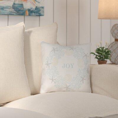 Weston Coastal Joy Indoor/Outdoor Throw Pillow Size: 18 H x 18 W x 4 D
