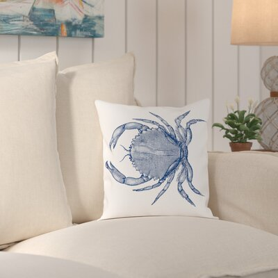 Attleboro Crab Quad 1 Outdoor Throw Pillow Size: 18 H x 18 W x 2 D