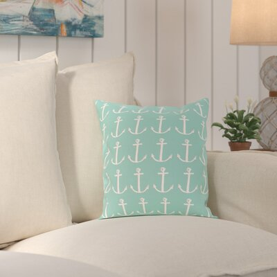 Rajashri Throw Pillow Size: 18 H x 18 W, Color: Aqua / Gray