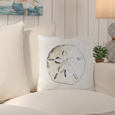Chaucer Striking Sand Dollar Outdoor Throw Pillow Size: 18 H x 18 W x 4 D