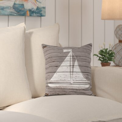 Harrisburg Wood Quad Sailboat Outdoor Throw Pillow Size: 20 H x 20 W x 2 D