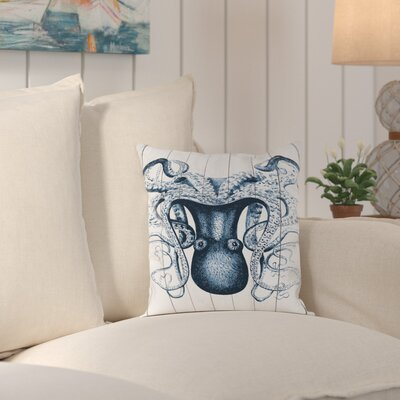 Wallingford Wood Odd Angle Octopus Outdoor Throw Pillow Size: 16 H x 16 W x 2 D