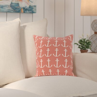 Rajashri Throw Pillow Size: 16 H x 16 W, Color: Coral / Taupe